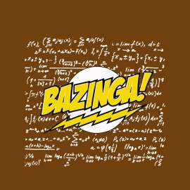 bazinga shirt with brown physical chemistry calculations