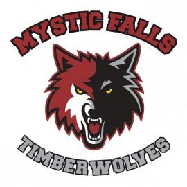 Tee Shirt Mystic Falls - Vampire Diaries - blanc