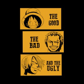 shirt one piece movie parody the good the bad and the ugly black