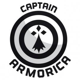 White Tee Shirt Captain Armorica