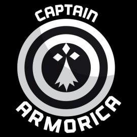Tee Shirt Black Captain Armorica