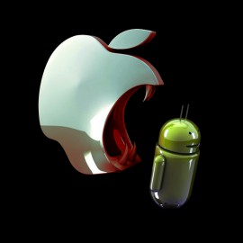 camisa negro que come la manzana androide