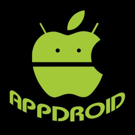 appdroid black t-shirt