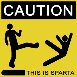 Tee Shirt This is Sparta 300 yellow