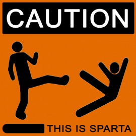 Tee Shirt This is Sparta 300 orange