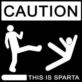 Tee Shirt This is Sparta 300 noir