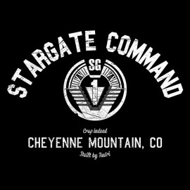 University Tee Shirt Stargate Command BLACK