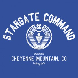 Tee Shirt University Stargate Command BLEU