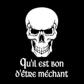 cráneo negro camiseta enojada