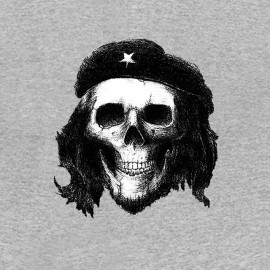 Che Guevara camiseta cráneo gris