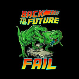 shirt back to the future black fail