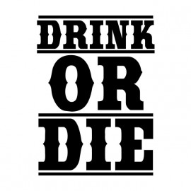 camiseta bebida blanca o morir