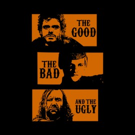 own game of thrones characters parody the good the bad and the ugly black