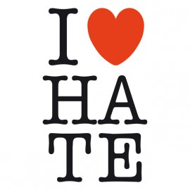 Ilove Tee Shirt HATE white