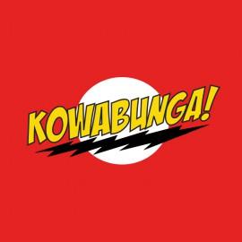 Kowabunga parody shirt red bazinga