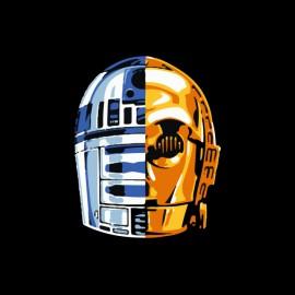 shirt Star Wars android black daft punk