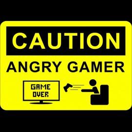 Tee Shirt Angry Gamer noir