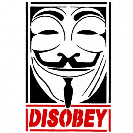 White Tee Shirt Disobey Anonymous