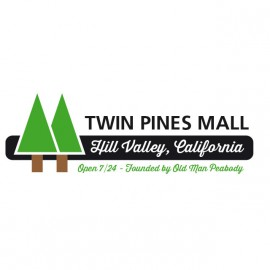 Tee Shirt BTTF Twin Pines Mall BLANC