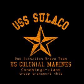 Camiseta extranjera de la camisa USS Sulaco negro