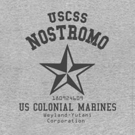Tee Shirt Alien Nostromo USCSS GREY