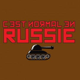 t-shirt that's normal brown russia