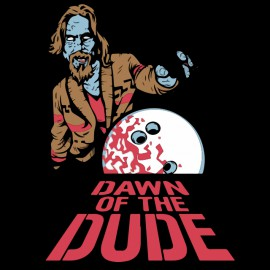 tee shirt dawn of the dude black