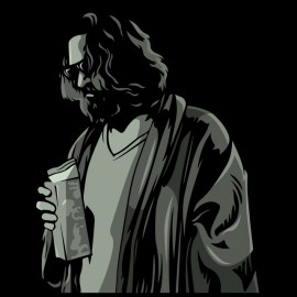 black tee shirt big lebowski
