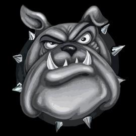 bulldog negro camisa