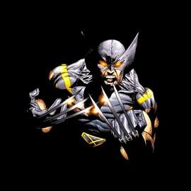 Wolverine cómics negro camisa de la manera