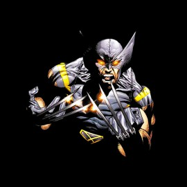 shirt fashion black comics wolverine