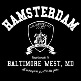 Universidad Camiseta Baltimore Hamsterdam el alambre - negro