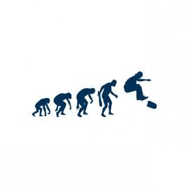 white t-shirt skateboarder Evolution