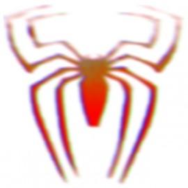 camisa de la araña de diseño 3d arte blanco