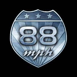 la camisa 88 mph vuelta hacia el futuro negro