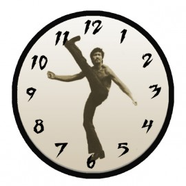 bruce lee shirt white clock