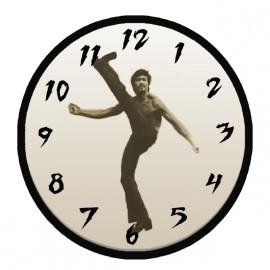 bruce lee shirt white clock