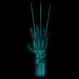 camisa de la garra negro X-ray