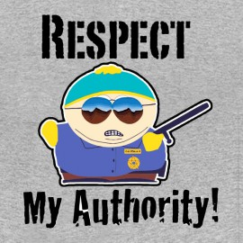 camiseta respetar mi autority gris