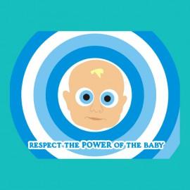 Camisa de potencia bebé turquesa
