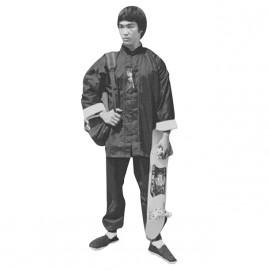 camisa de Bruce Lee deslizamiento raya blanca