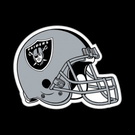 tee shirt casque raiders football américain noir