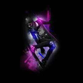 tee shirt skateboard design noir