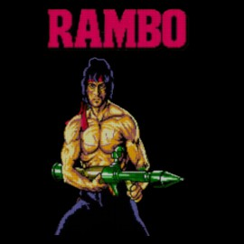 black tee shirt rambo