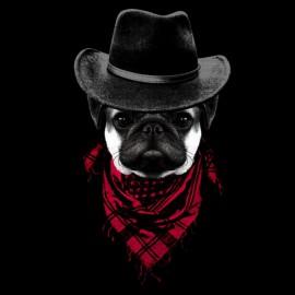 Cowboy shirt black Pug