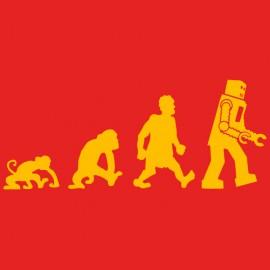 la teoría de Big Bang Sheldon del robot Evolución Darwin