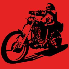 costumbre anarquía conductor de motocicleta