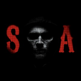 negro camiseta SOA