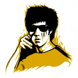 bruce lee white shirt