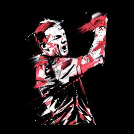 tee shirt Wayne Rooney art design noir